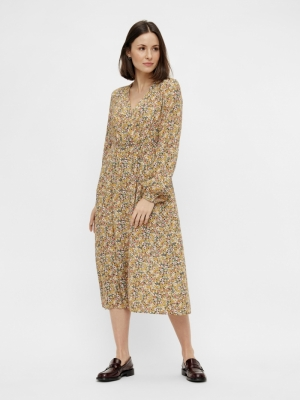 PCGRY LS WRAP MIDI DRESS D2D logo