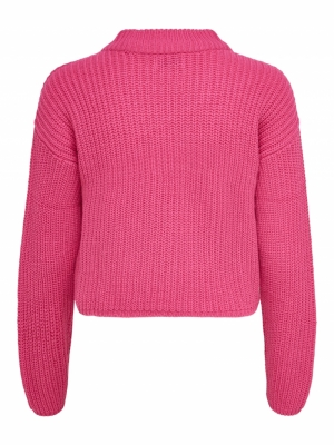 JDYSISTER L-S CROPPED PULLOVER Raspberry Sorbe