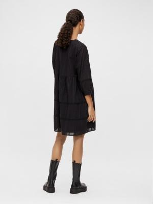 OBJGEILLIS 3-4 DRESS NOOS Black