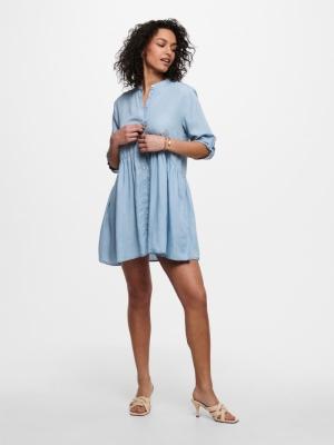 JDYOLIVIA LIFE 3-4 SHORT DRESS Light Blue Deni