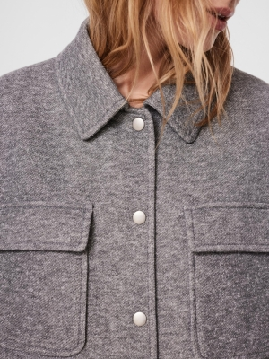 VMVERODONAVITA SHORT JACKET GA Light Grey Mela