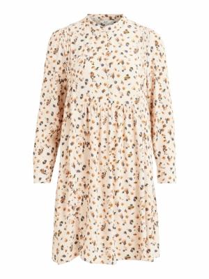 OBJNELLE L-S SHORT DRESS REP Sandshell/MULTI