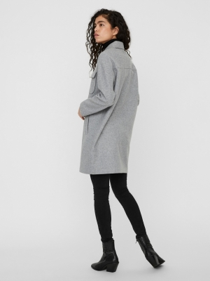 VMDAFNERAY COAT GA BOOS Light Grey Mela