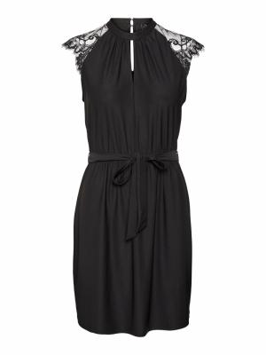 VMMILLA SL LACE SHORT DRESS GA Black