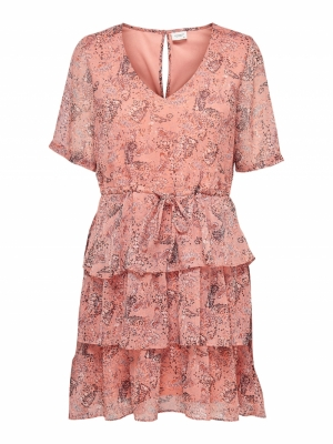 JDYLINDA 2-4 DRESS WVN Coral Haze/MINI