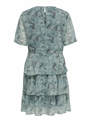 JDYLINDA 2-4 DRESS WVN Blue Surf/MINI