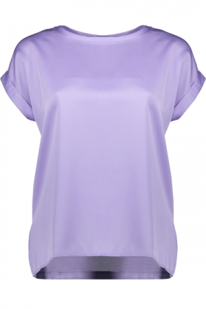 VIELLETTE S-S SATIN TOP-SU - F Lavender