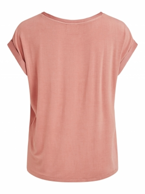 VIELLETTE S-S SATIN TOP-SU - F Old Rose