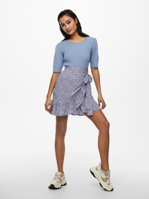 ONLOLIVIA WRAP SKIRT WVN NOOS Chinese Violet/