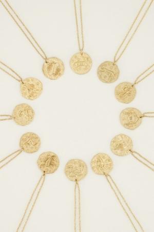 Ketting Zodiac goud WEEGSCHAAL