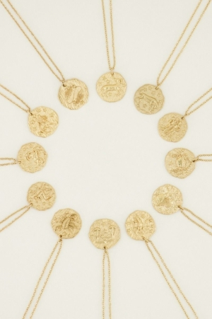 Ketting Zodiac goud MAAGD