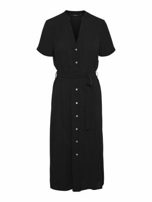 VMSAGA SS CALF SHIRT DRESS GA Black