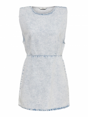 ONLSAGA SHOULDER SL DNM DRESS Light Blue Deni