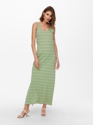 ONLMAY LIFE S-L V-NECK DRESS J Desert Sage/CLO