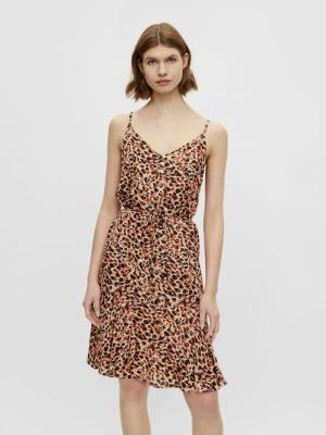 PCNYA SLIP BUTTON DRESS BF BC Apricot Cream/L