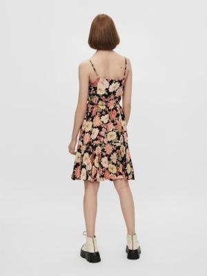 PCNYA SLIP BUTTON DRESS BF BC Black/BFL
