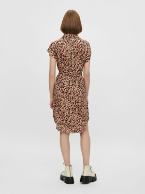 PCNYA SS SHIRT DRESS BF BC Apricot Cream/L
