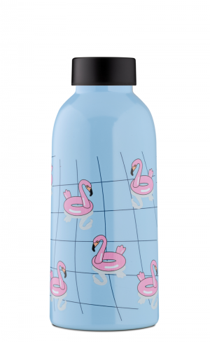Insulated Bottle 470ml Flamingos