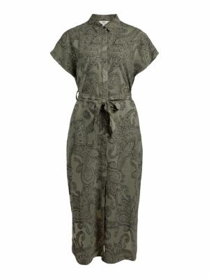 OBJADILLA S-S DRESS 115 Deep Lichen Gre