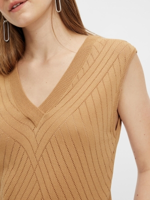 YASELSO SL KNIT TOP Tan