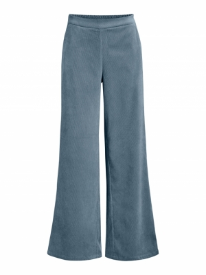 OBJELVA WIDE PANT A REP Blue Mirage
