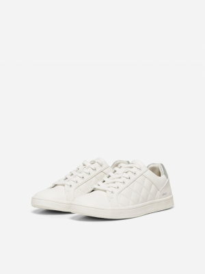 ONLSHILO-37 PU QUILTED SNEAKER White