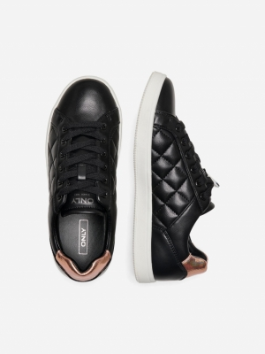 ONLSHILO-37 PU QUILTED SNEAKER logo