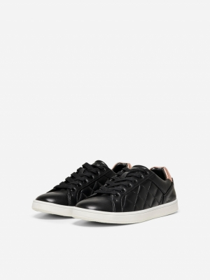 ONLSHILO-37 PU QUILTED SNEAKER black