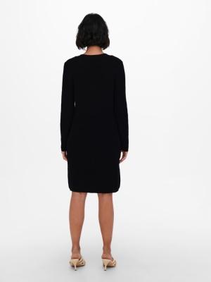 ONLMELTON LIFE L-S DRESS KNT Black