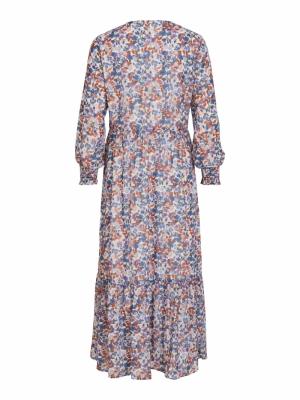 VIJENIN L-S ANCLE DRESS-SU Barely Blue/BEL