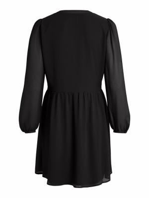 VIAMIONE L-S DRESS-SU - NOOS Black