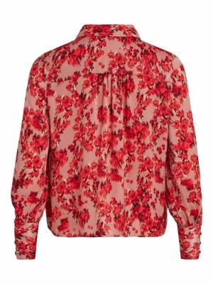 VILIANA L-S SHIRT-DC-SU Old Rose/FLOWER