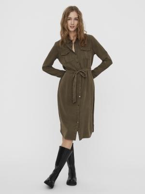 VMSALLY LS LONG DRESS MIX GA C Bungee Cord