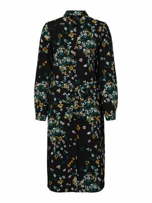 VMEA L-S SHIRT DRESS WVN LCS Sea Moss/EA