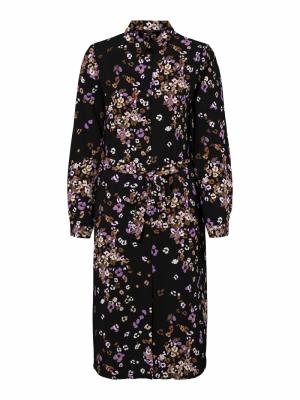 VMEA L-S SHIRT DRESS WVN LCS Hyacinth/EA