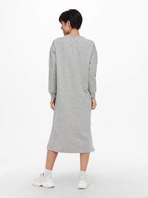 ONLADELE LIFE L-S DRESS SWT Light Grey Mela