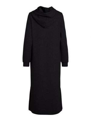 VISIF L-S MID CALF SWEAT DRESS Black
