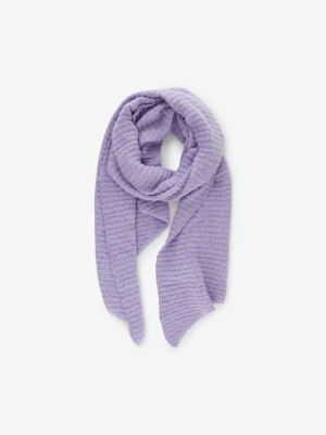 PCPYRON STRUCTURED LONG SCARF Lavender