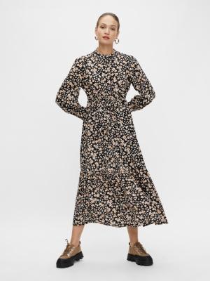 YASEMALLA LS LONG SHIRT DRESS Black/EMALLA PR
