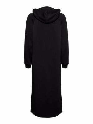 VMSILKY L-S SLIT DRESS SB8 Black