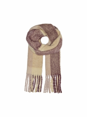 ONLAGNES LIFE WOVEN SCARF Rose Brown