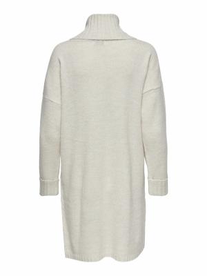 JDYTYRA L-S ROLLNECK DRESS KNT Oatmeal/MELANGE