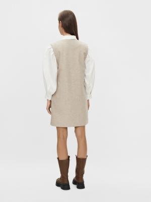 YASDAMINO SL DRESS Mushroom/MELANG
