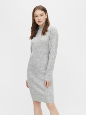 PCCANA LS HIGH NECK KNIT DRESS logo